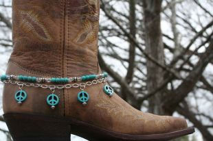 Turquoise Peace Boot Candy