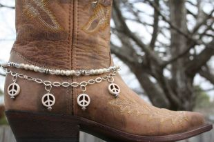 White Peace Boot Candy
