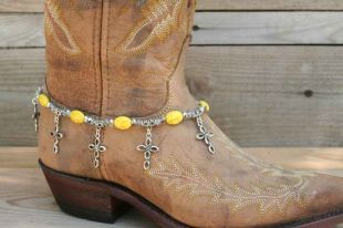 Yellow Beads Boot Candy