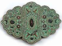 Vintage Antiqued Brass Western Buckle