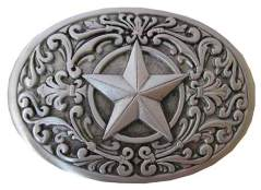 Vintage Star Western Belt Buckle