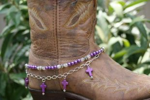 Purple Western Cross Boot Candy