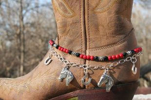 Red Lucky Horseshoes Boot Candy
