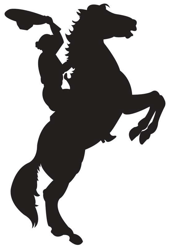 cowgirl on a horse illustration